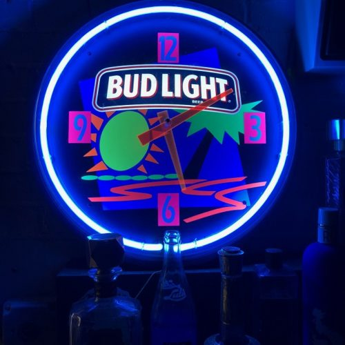 Bud Light Clock Prop House/ Movie Prop Rental - NY