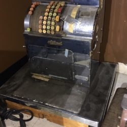 RARE ANTIQUE VINTAGE NATIONAL CASH REGISTER NY/ NJ/ MA/ CT