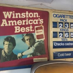 Winston Cigarette Pricing Prop House Sign Classic - NYC