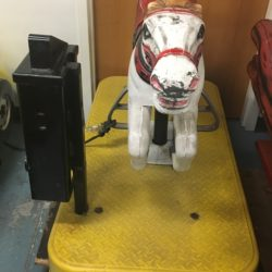WHITE HORSE KIDDIE RIDE PROP RENTAL NYC