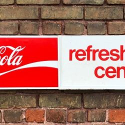 Coca Cola Refreshment Center Sign Prop Rental Prop House Manhattan-Brooklyn