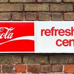 Coca Cola Refreshment Center Sign Prop Rental Prop House Manhattan-Brooklyn