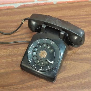 NYC prop house black rotary vintage phone