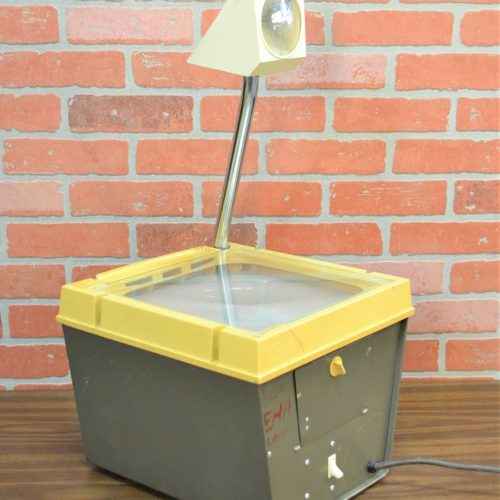 vintage yellow over head projector ny prop rentals NYC prop house