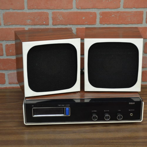 RCA large desktop stereo with retro speakers prop nyc prop house