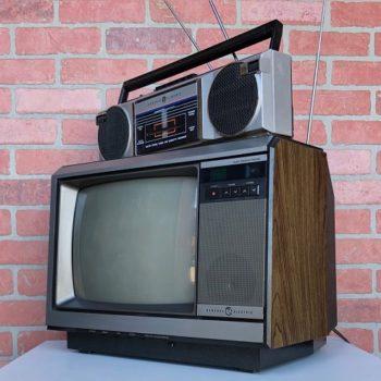 NYC countertop GE television prop rental