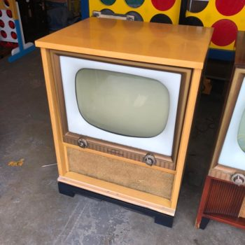 vintage prop tv blonde console
