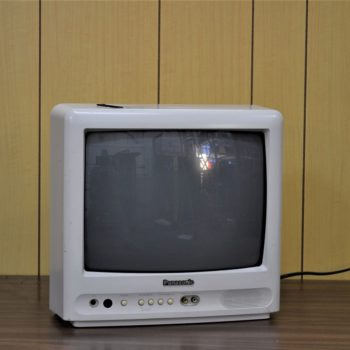 Panasonic white television prop rental NYC