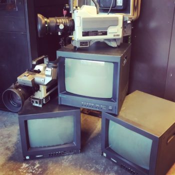 CRT display monitors vintage prop rental