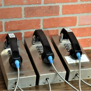 3 wall mounted pay phones prop rentals. Prop house serving NYC