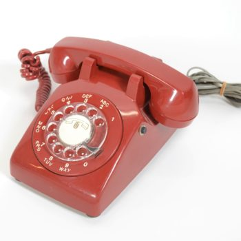 Dark red Telephone
