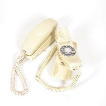 Light tan telephone