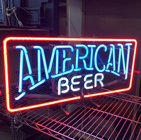 american beer neon sign prop rental