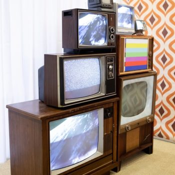 vintage TV stack prop rentals Brooklyn, NY