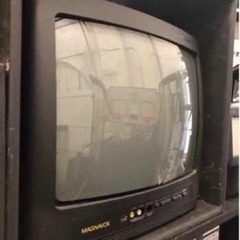 Magnavox black vintage TV prop rentals