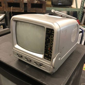 Spectra portable silver tv prop