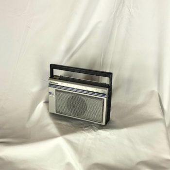 Silver Classic Panasonic Small Boombox NY Prop Rental