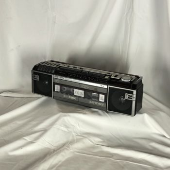 Vintage Classic boombox dubbing & auto reverse prop rental | prop house | theme collection NY | CT | MA