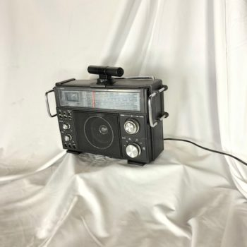 Classic Radio Box (black) NYC | CT Area Prop House | Prop Rental