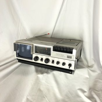 Vintage Portavision TV & Cassette AM/FM Prop House Rental NYC | CT