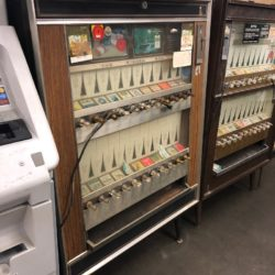 wooden cigarette machine prop rental