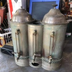vintage coffe dispenser canister prop rental nyc