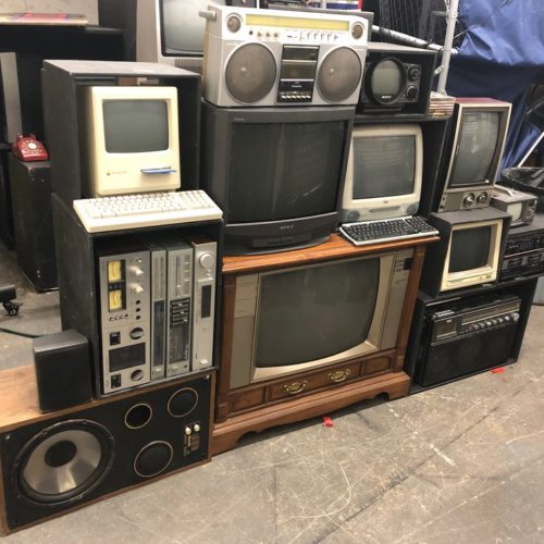 vintage tech 80s party prop tv wall computer props nyc