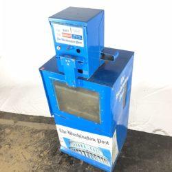 Blue newspaper box prop rental NYC washington post