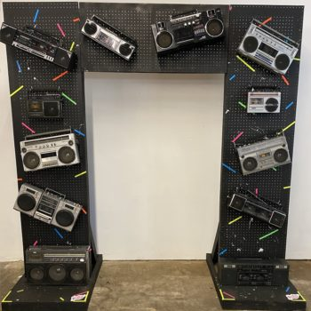 90s party props nyc boombox wall displayu