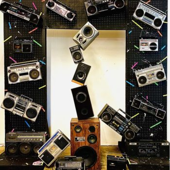 vintage boombox 90s party prop rentals new york
