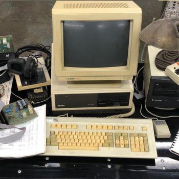 vintage att desktop computer prop rental new york