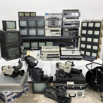tv studio vintage control room props