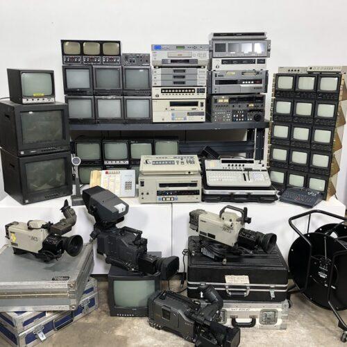 tv studio vintage control room props