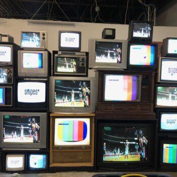 vintage TV stack TV wall rentals LA