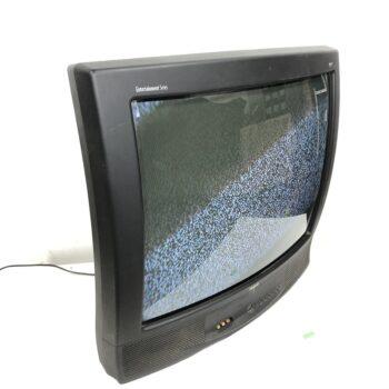 27 INCH SHARP CRT TV PROP RENTAL BLACK