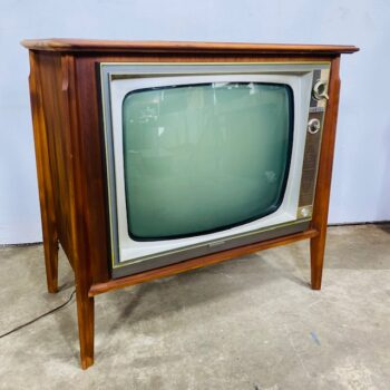 1960s black and white tv prop