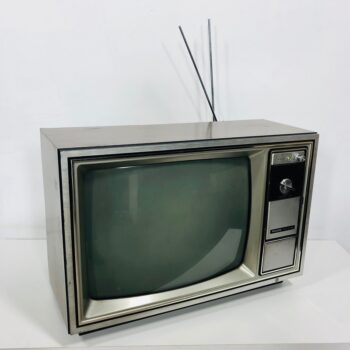 VINTAGE CRT TV WITH DIAL 1970S