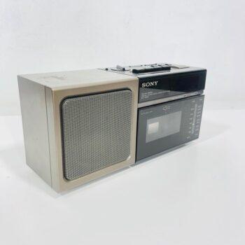 sony mini clock boombox 80s prop