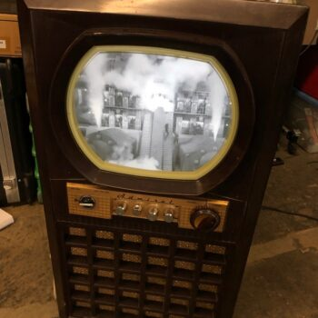 working and ready 50s tv with lcd pic 2 of 2