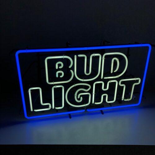 bud light neon sign prop rental