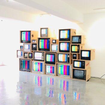chrome hearts vintage TV wall Miami