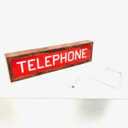 telephone booth sign vintage prop rentals new york