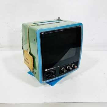 vintage blue portable tv new york prop house rentals