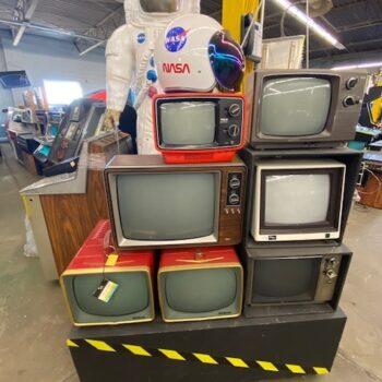 vintage tv stack prop rental new york