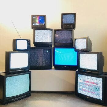 vintage tv stack television props new york