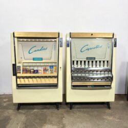 vintage vending machines pair