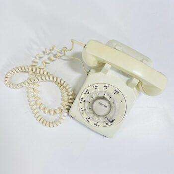 70S WHITE ROTARY PHONE PROP RENTAL